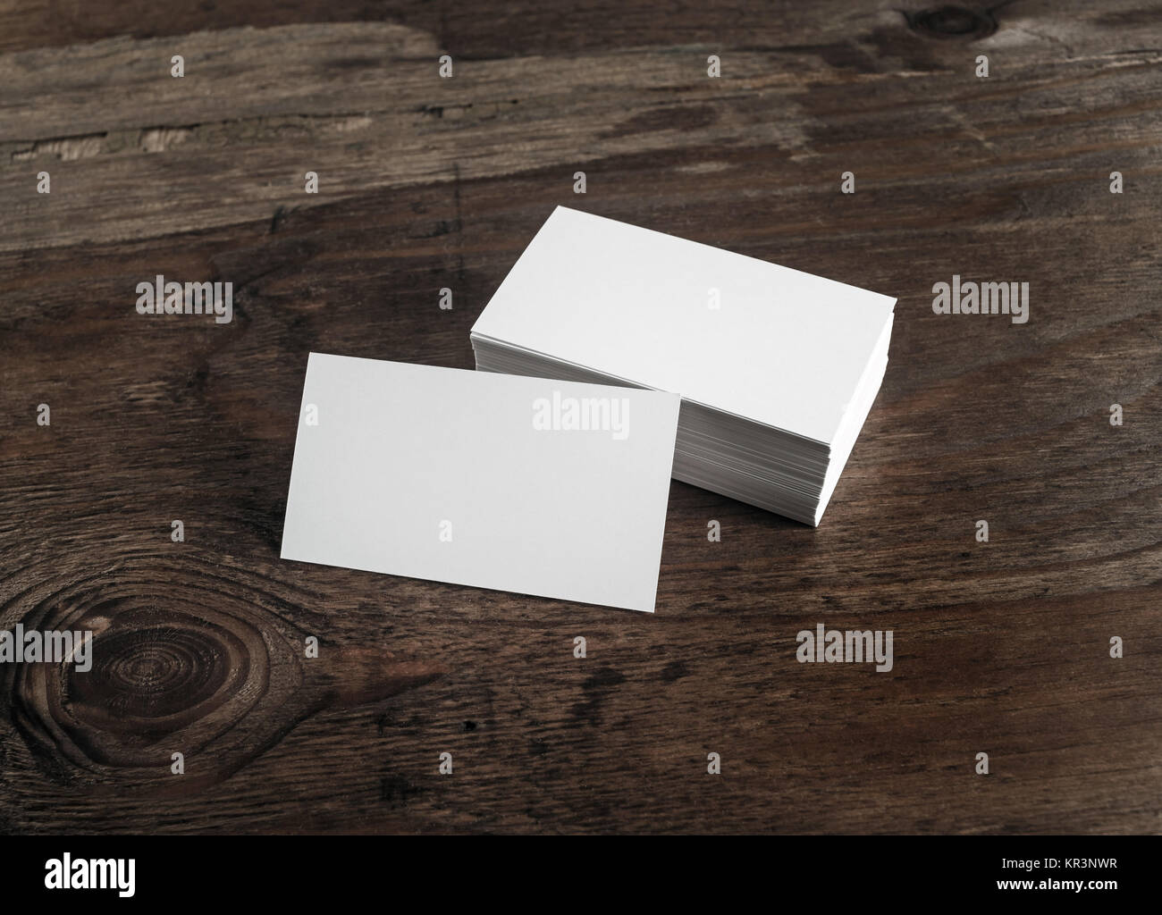 White business cards - Stock Image