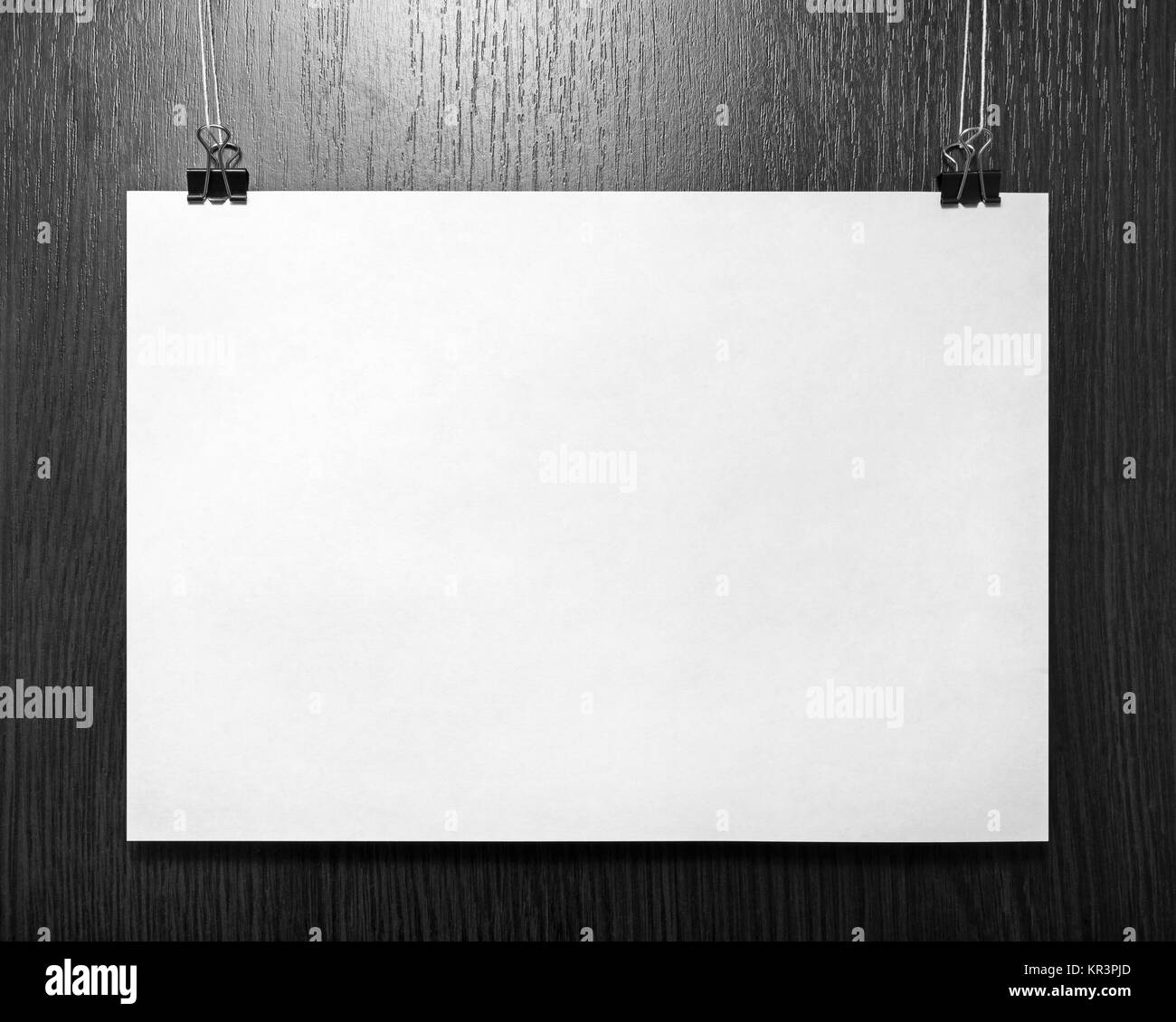 Blank paper poster - Stock Image