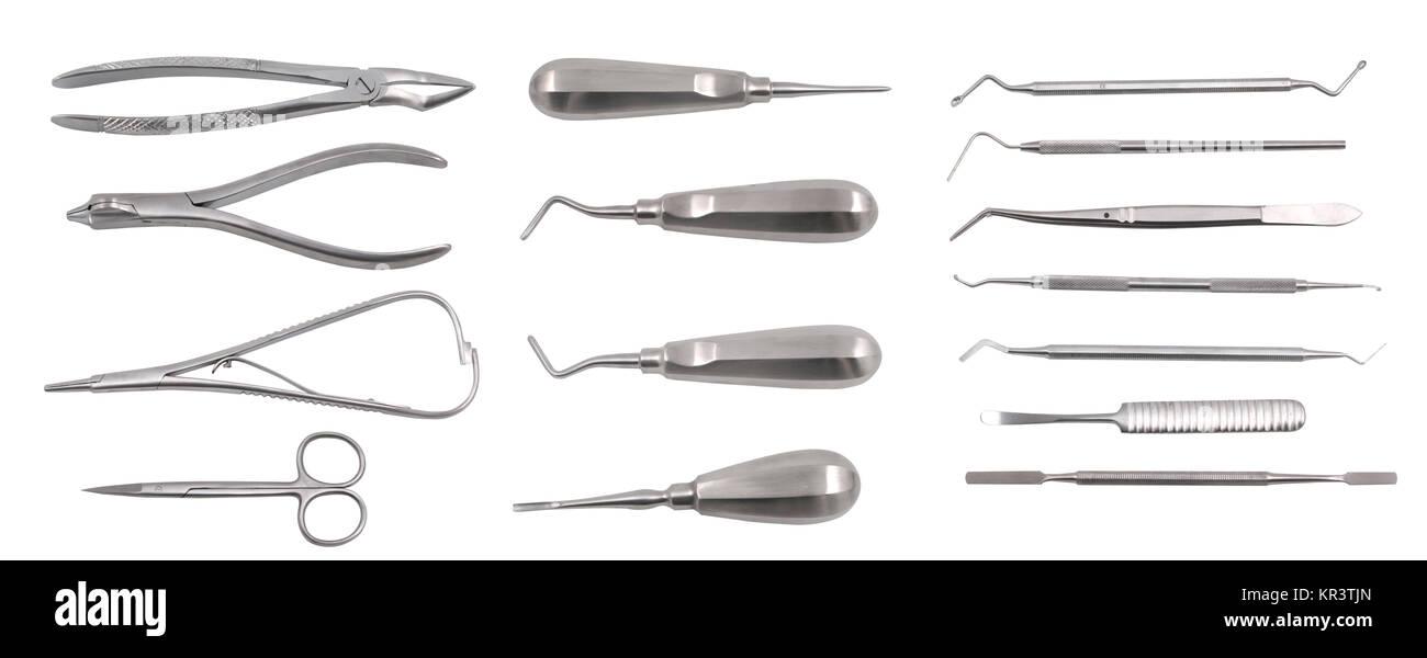 Complete set of dentist equipment - Stock Image