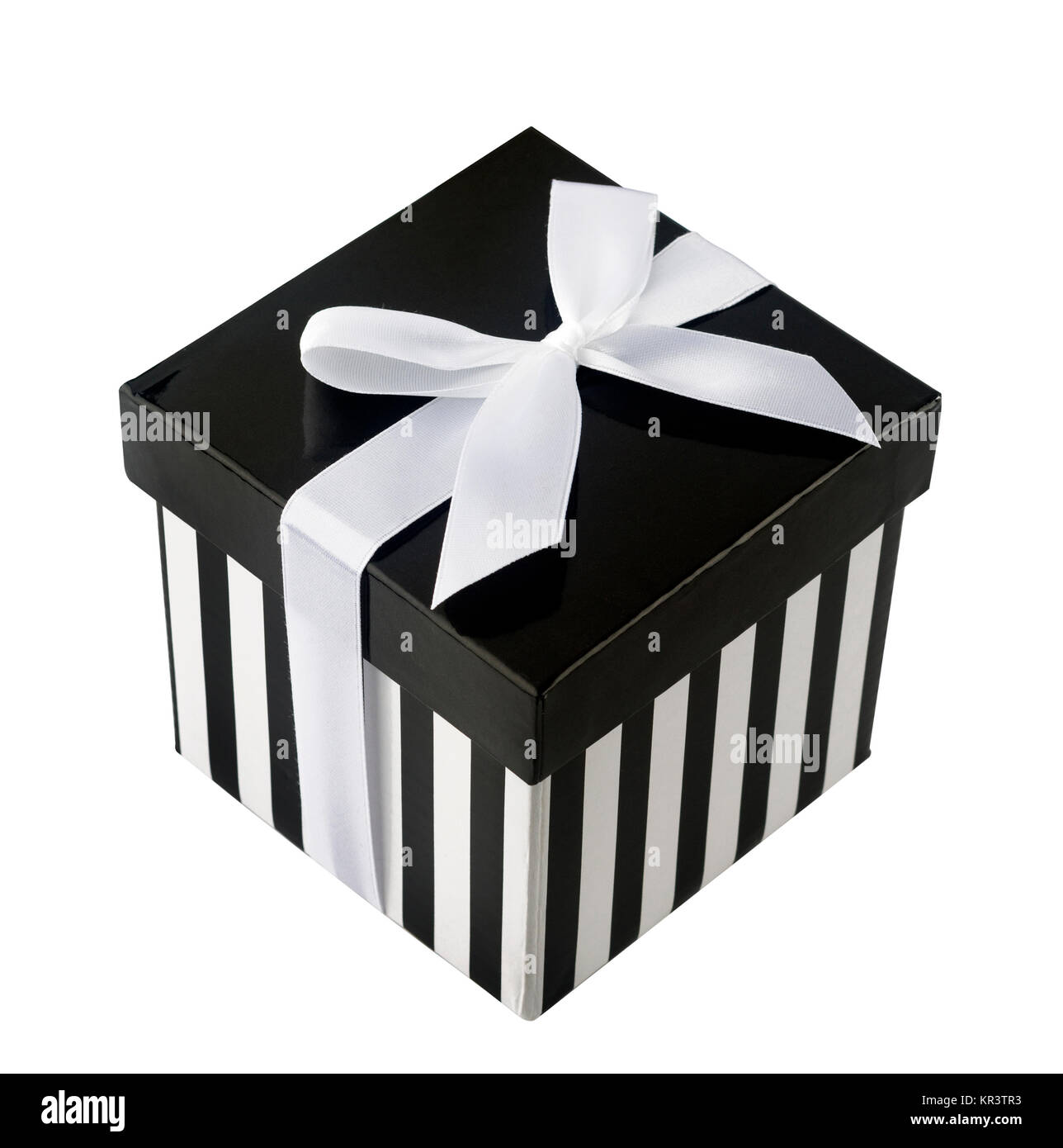 Closed Box With Black And White Stripes Stock Photo 169115719 Alamy