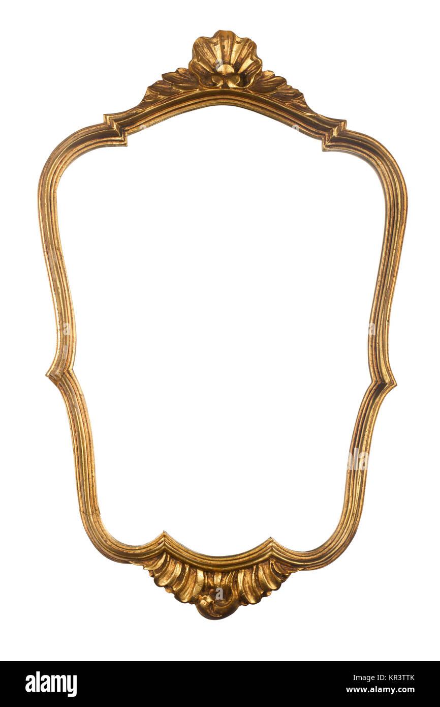 Vintage gold mirror frame Stock Photo: 169115763 - Alamy