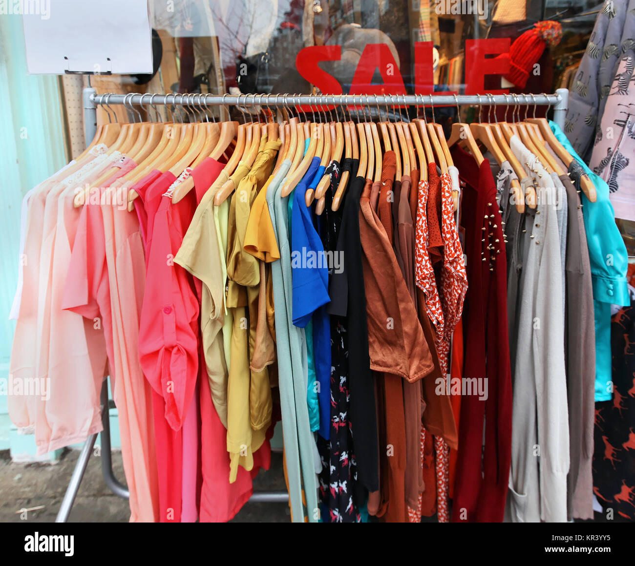 6dc21304574b Summer clothes sale Stock Photo  169118185 - Alamy