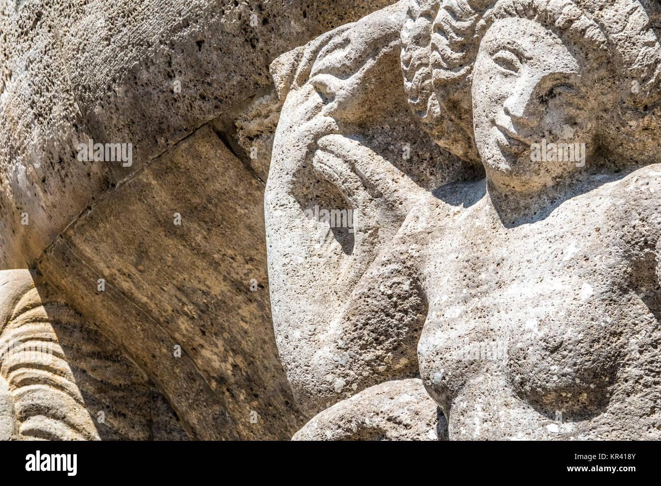 mythological relief in the sprudelhof of bad nauheim Stock Photo