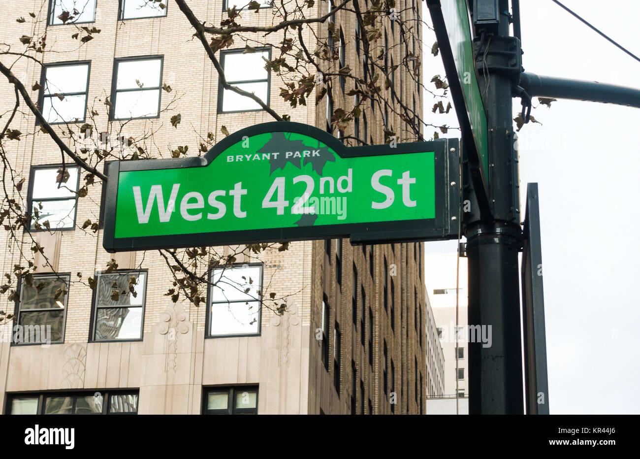 West 42nd Street Stock Photos & West 42nd Street Stock ...