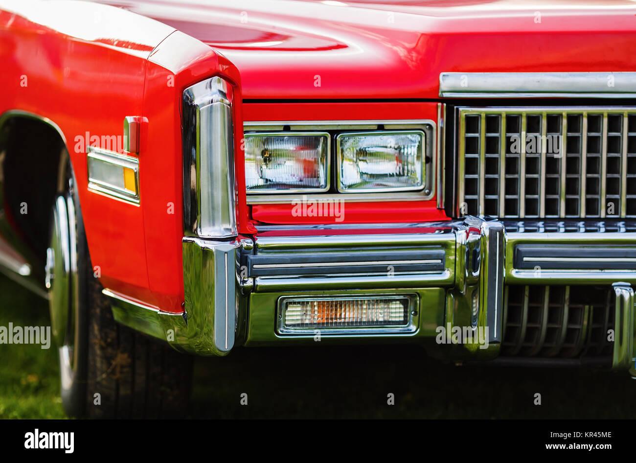 Red retro car - Stock Image