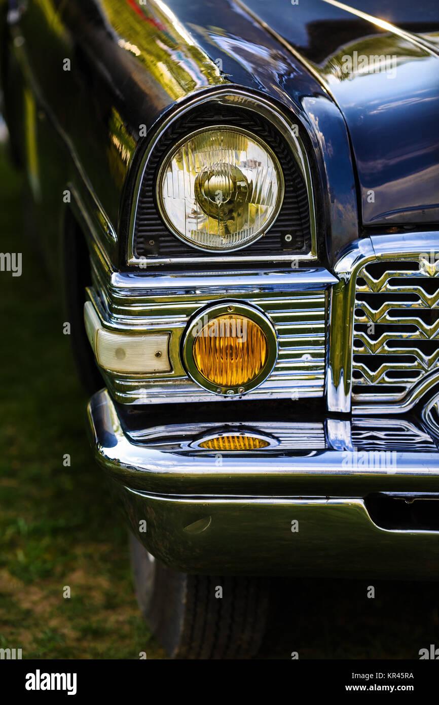 Headlight of retro car - Stock Image