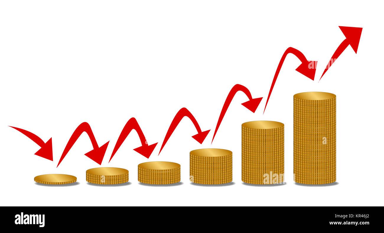 Rising Money Steps - Stock Image