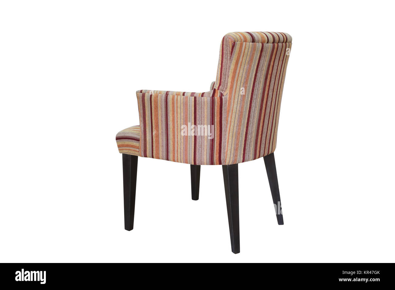A studio shot of armchair isolated - Stock Image