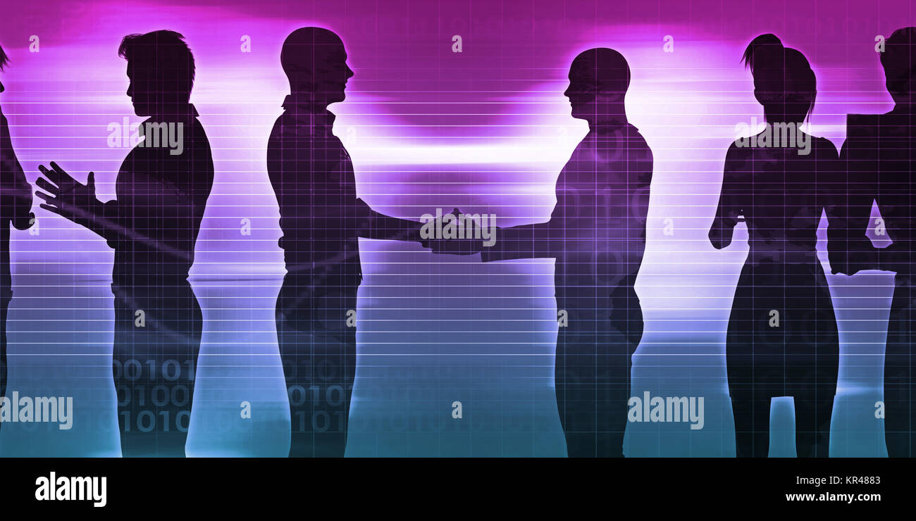 Exchanging Ideas - Stock Image