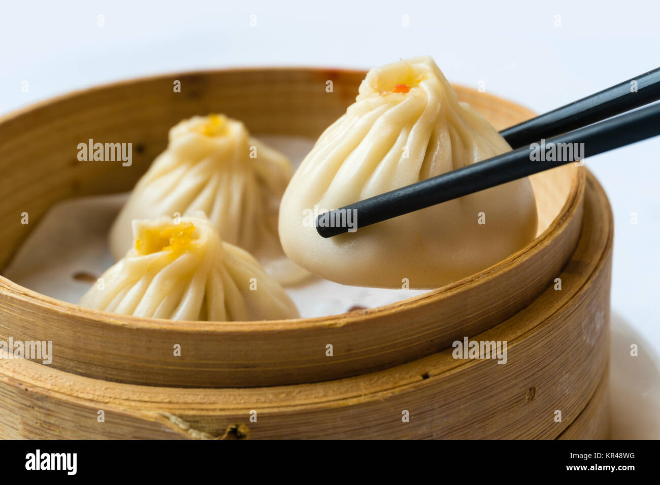 Traditional Shanghai dumpling, also called xiaolongbao - Stock Image