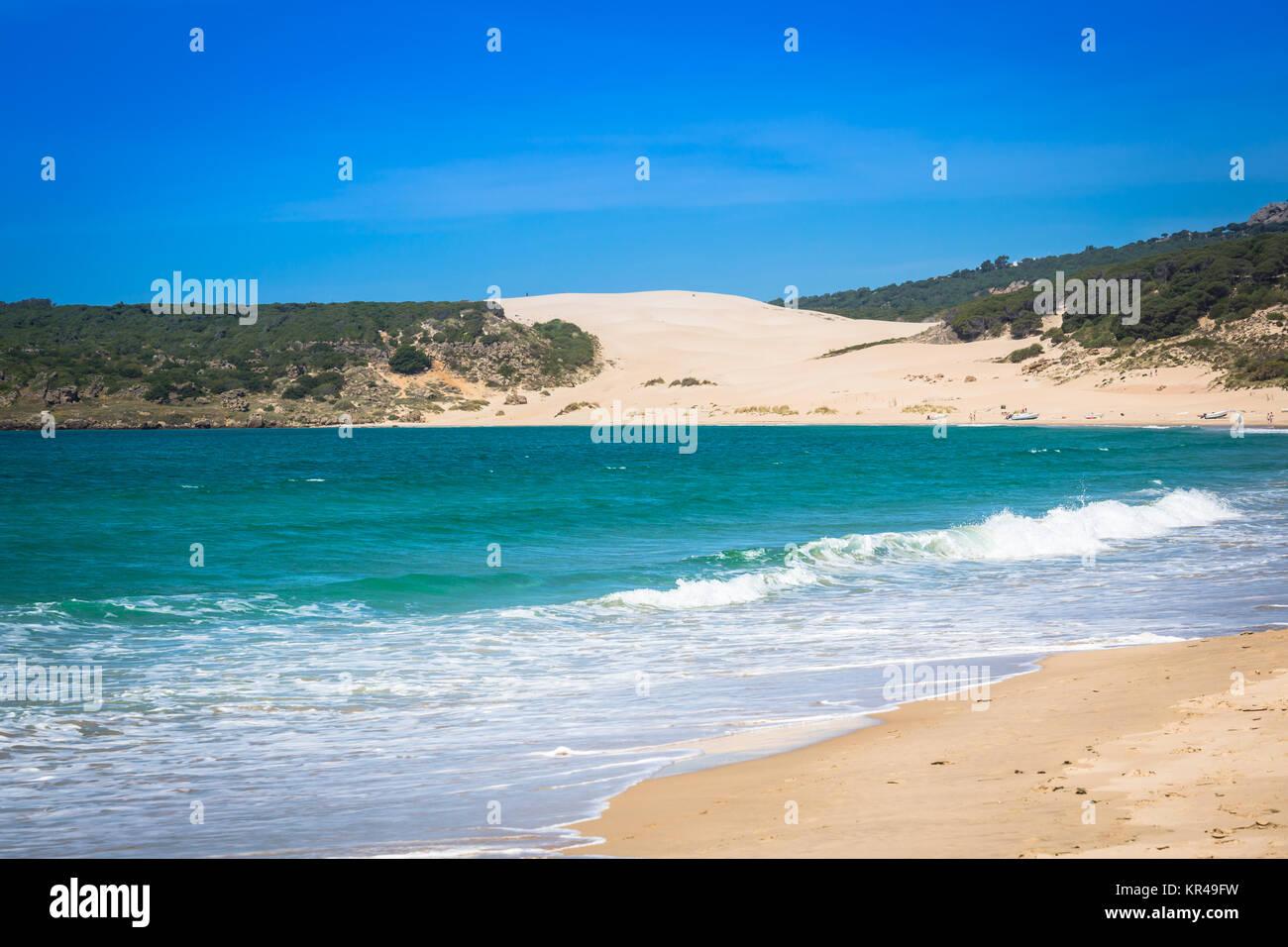 sand dune of bolonia beach,province of cadiz,andalucia,spain Stock Photo