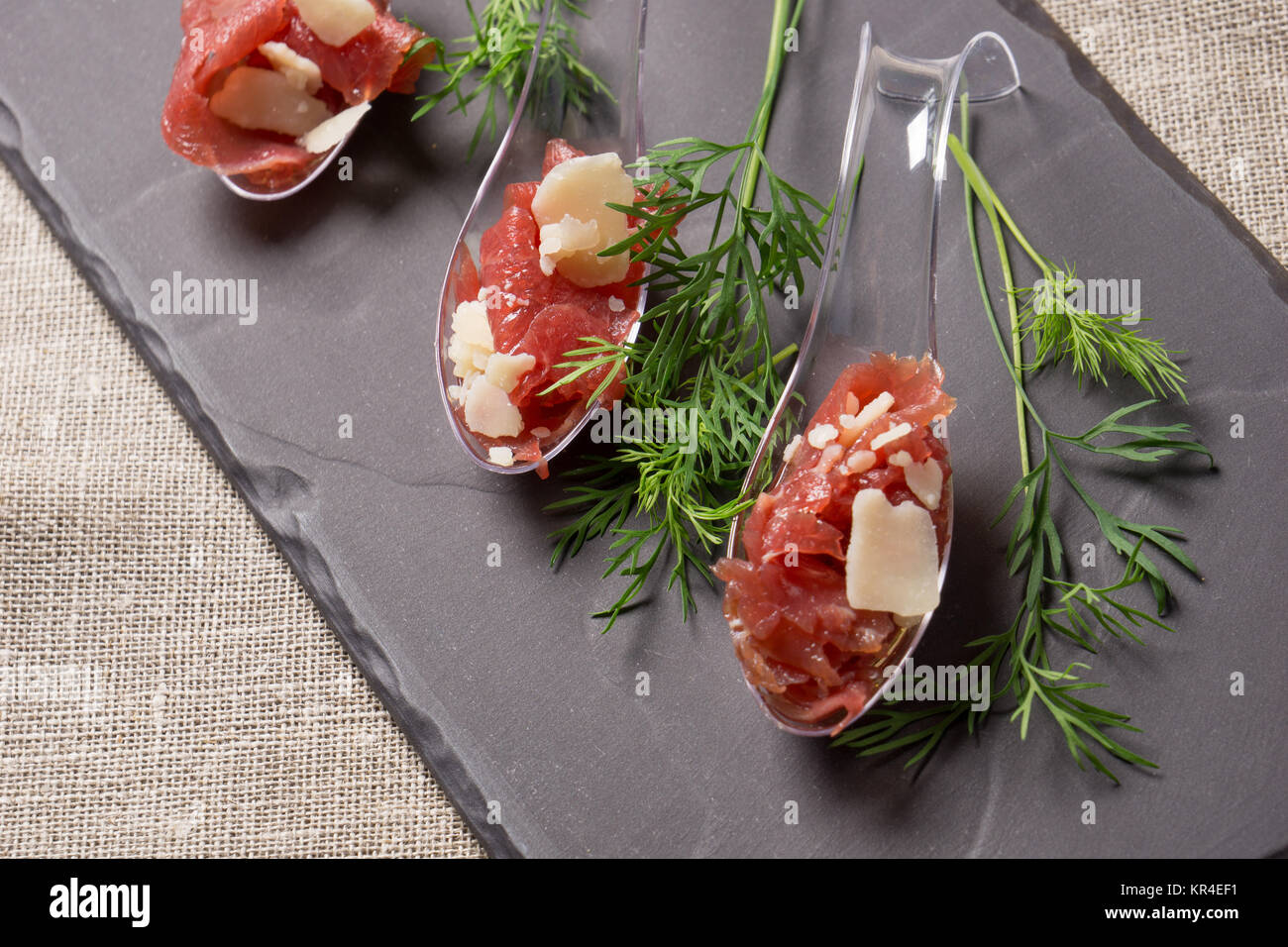 appetizer with meat - Stock Image