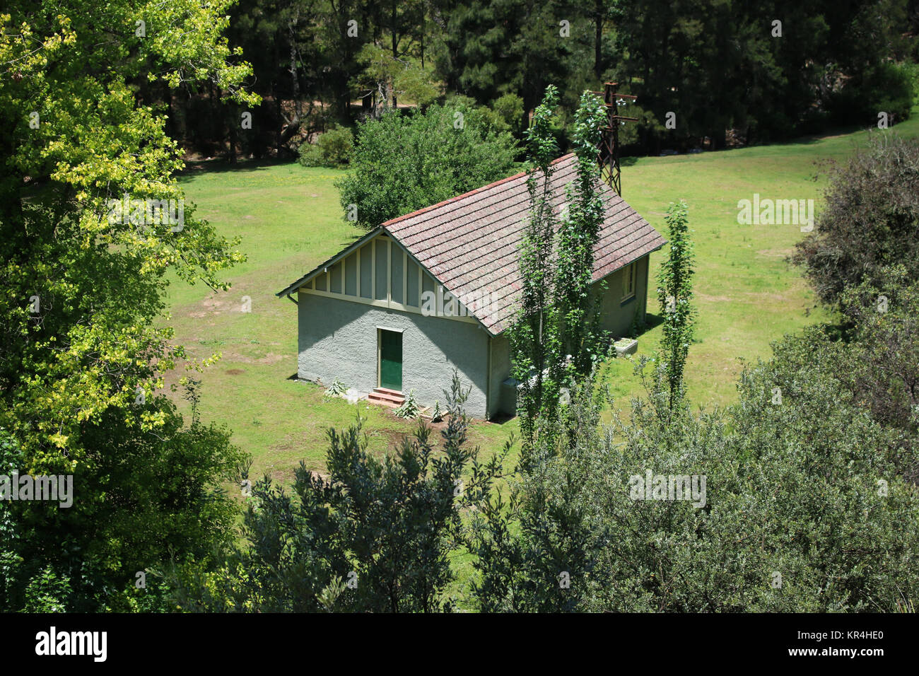 Singular House in the Bush - Stock Image
