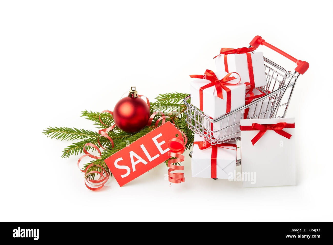 Christmas and New Year shopping. Stock Photo