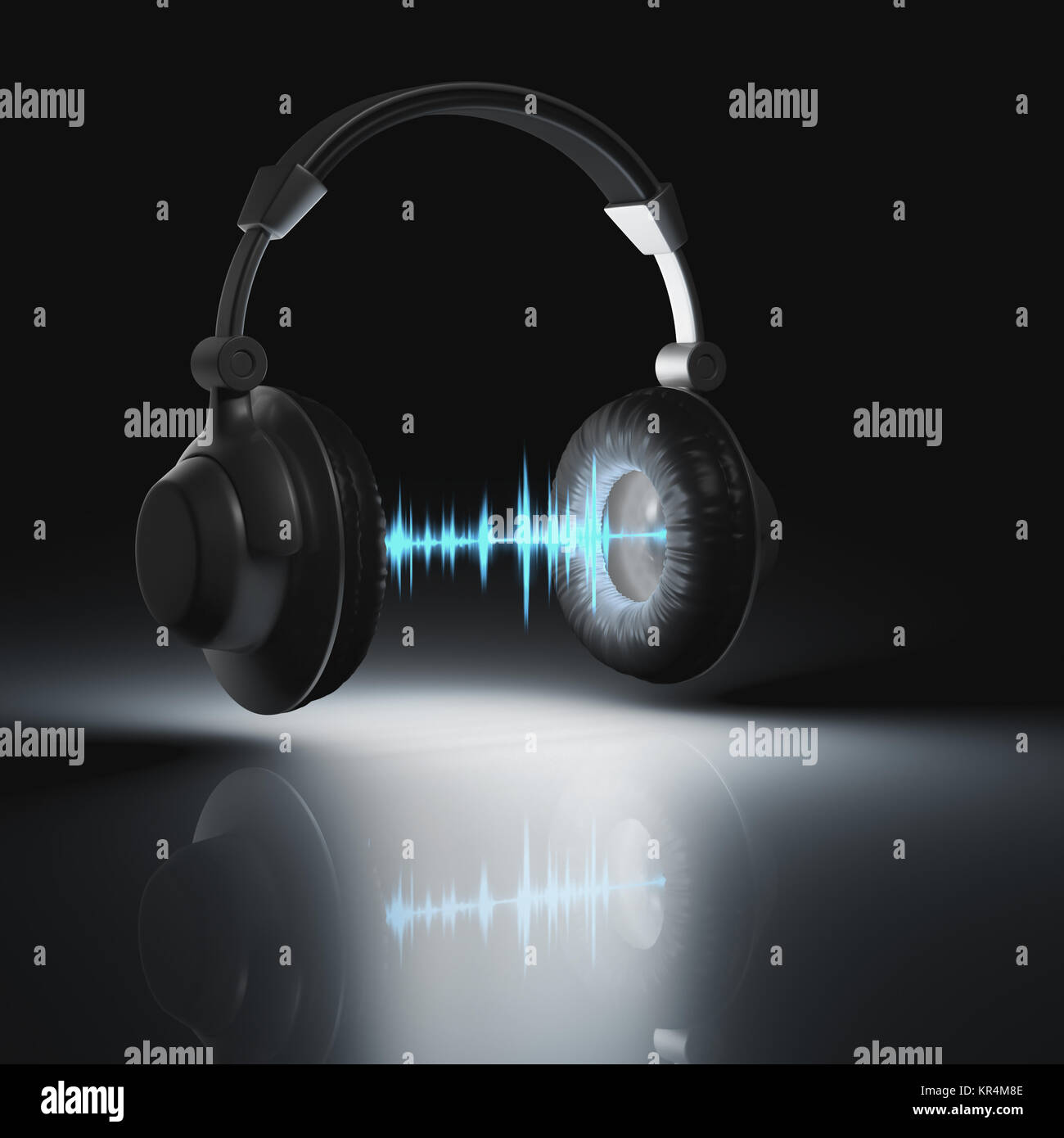 Headset Graphic Equalizer Stock Photo: 169134126 - Alamy