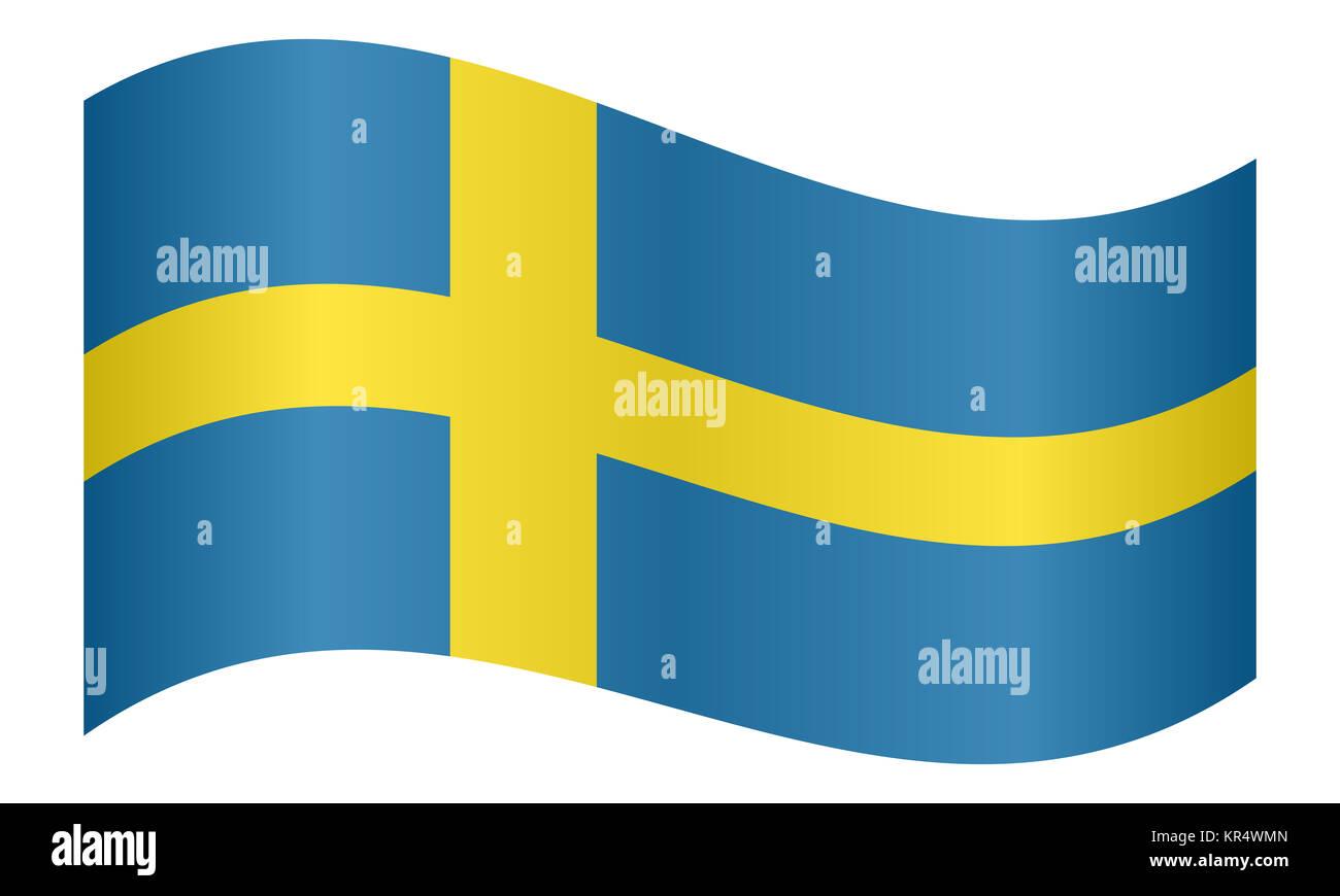 Flag of Sweden waving - Stock Image