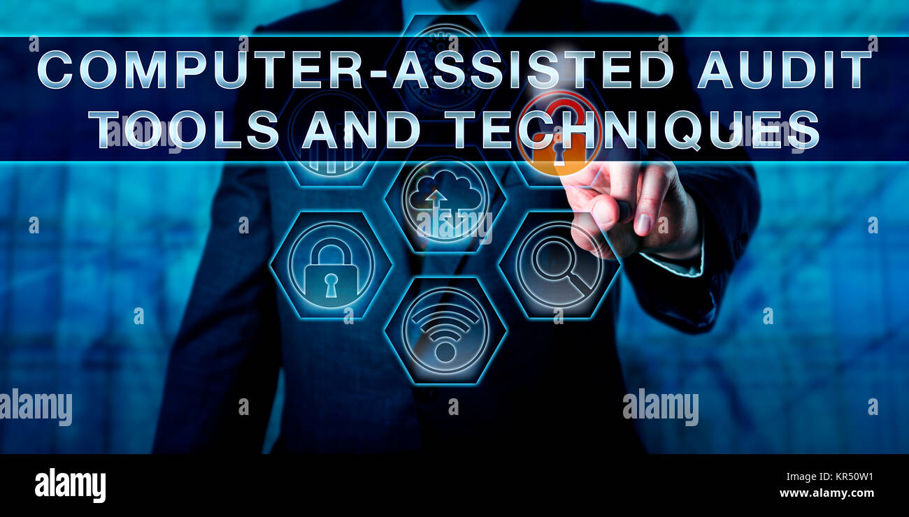 COMPUTER-ASSISTED AUDIT TOOLS AND TECHNIQUES - Stock Image