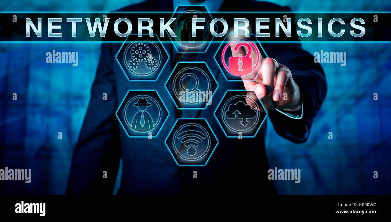 Attorney Pushing NETWORK FORENSICS - Stock Image