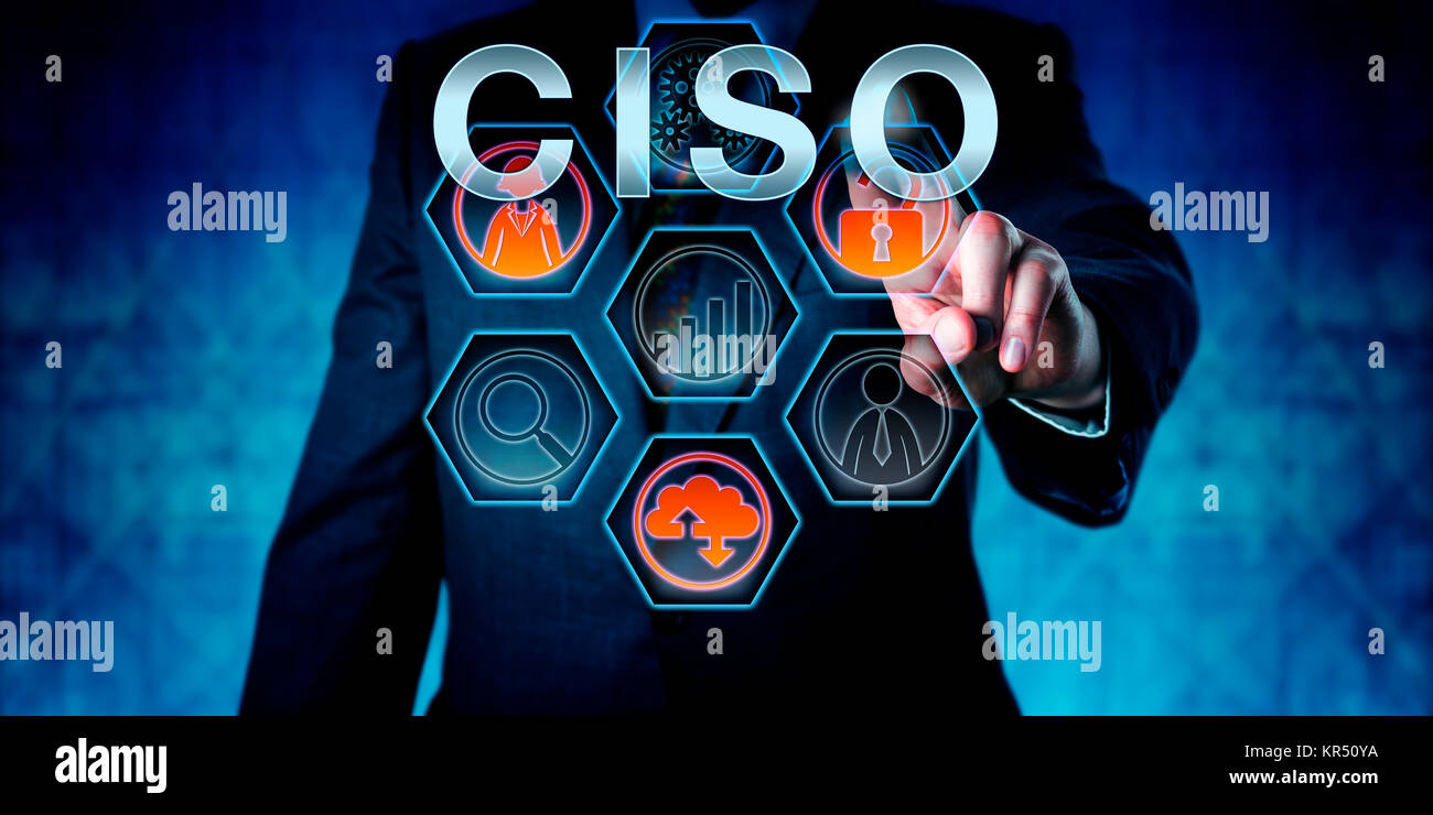 Corporate Executive Touching CISO - Stock Image
