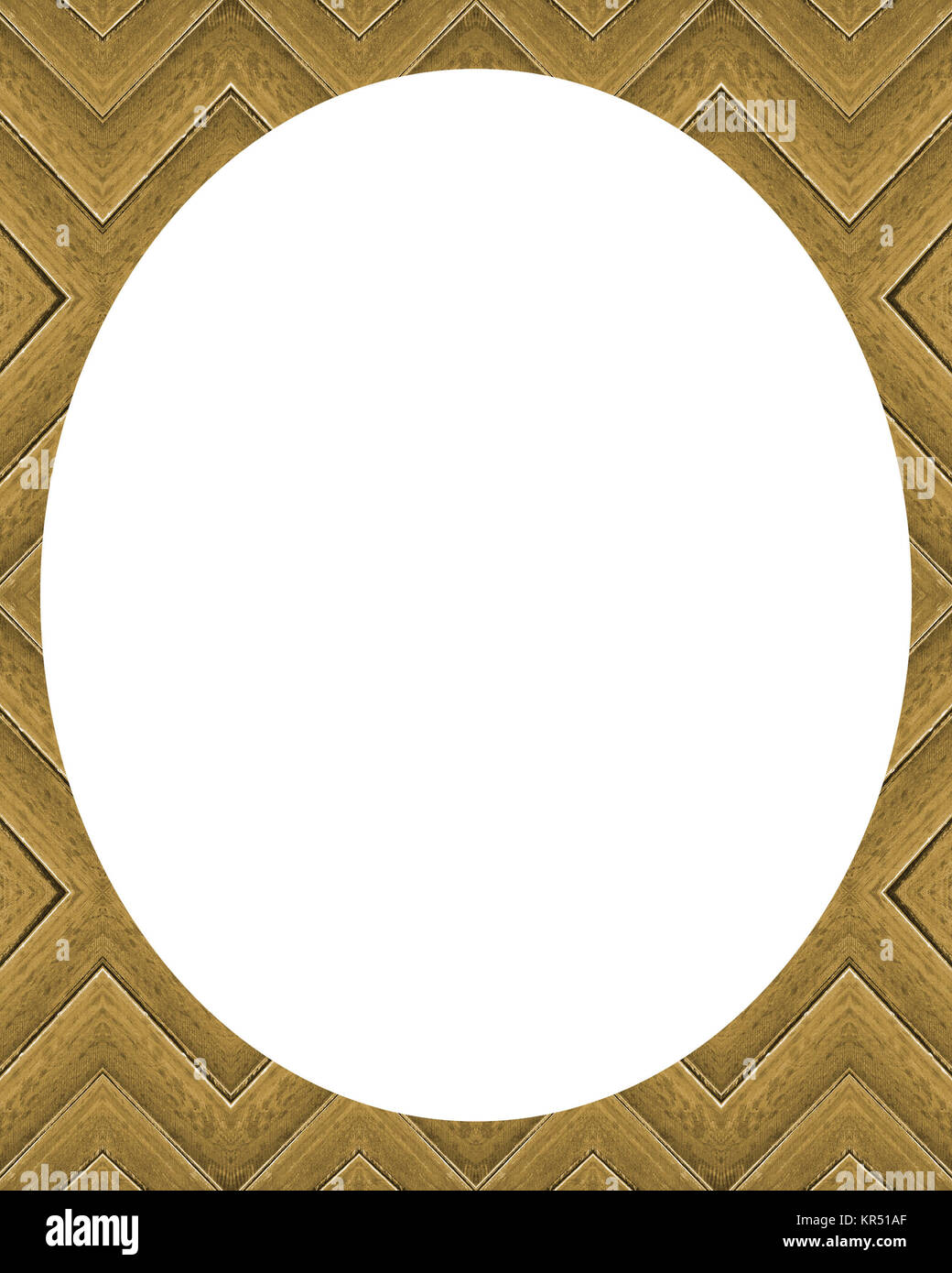 Circle White Frame Background with Decorated Borders - Stock Image