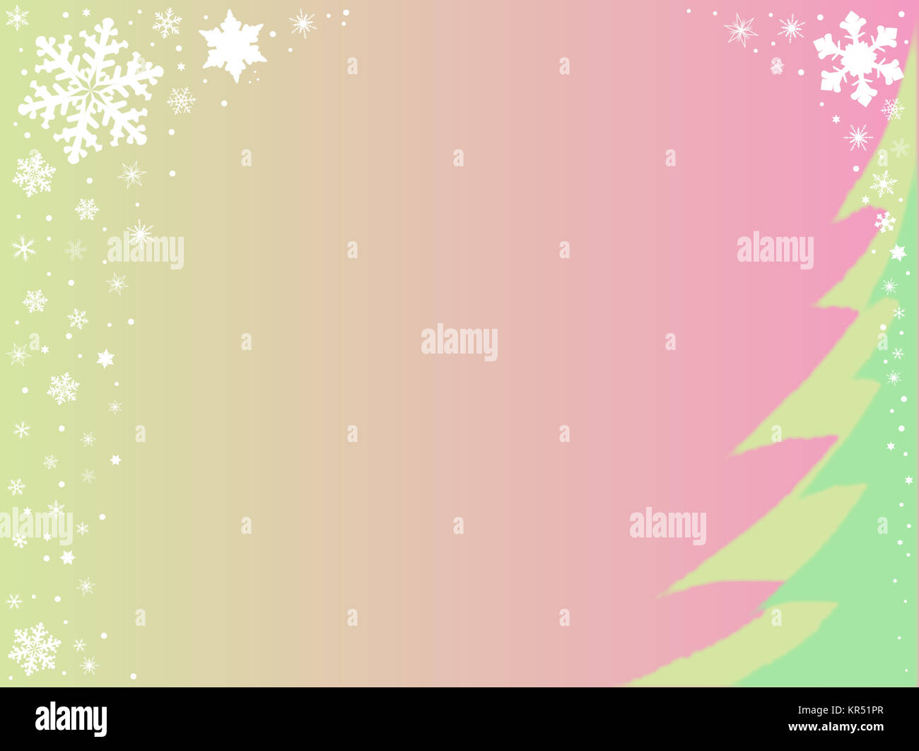 Christmas Snowflake Background - Stock Image
