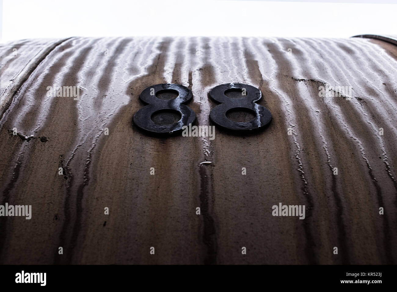 Brown and rusty background with digits. - Stock Image