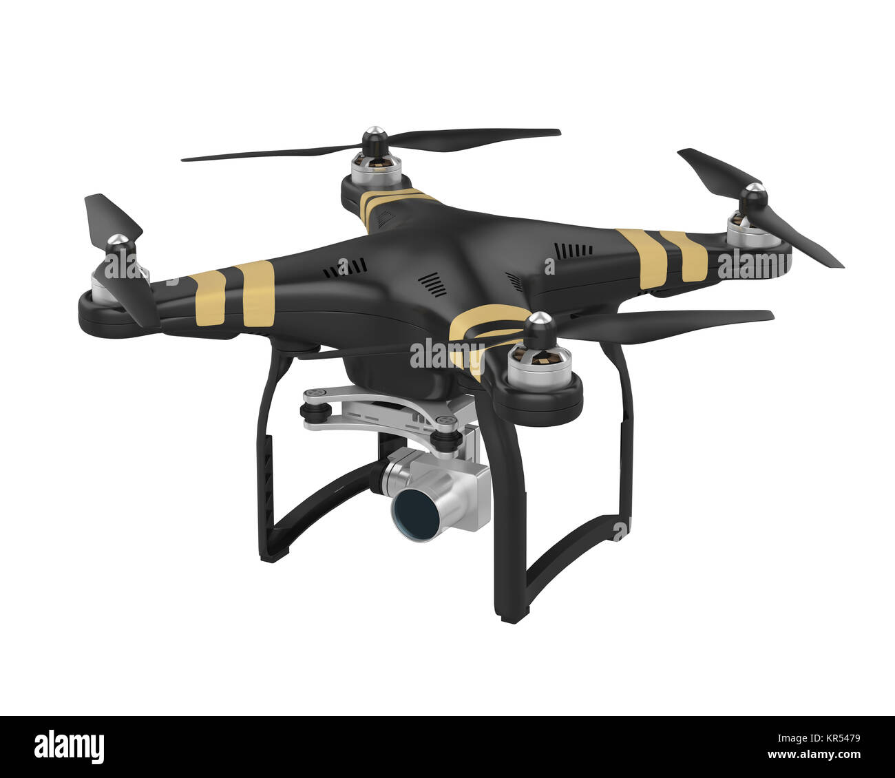 Drone with Camera Isolated - Stock Image