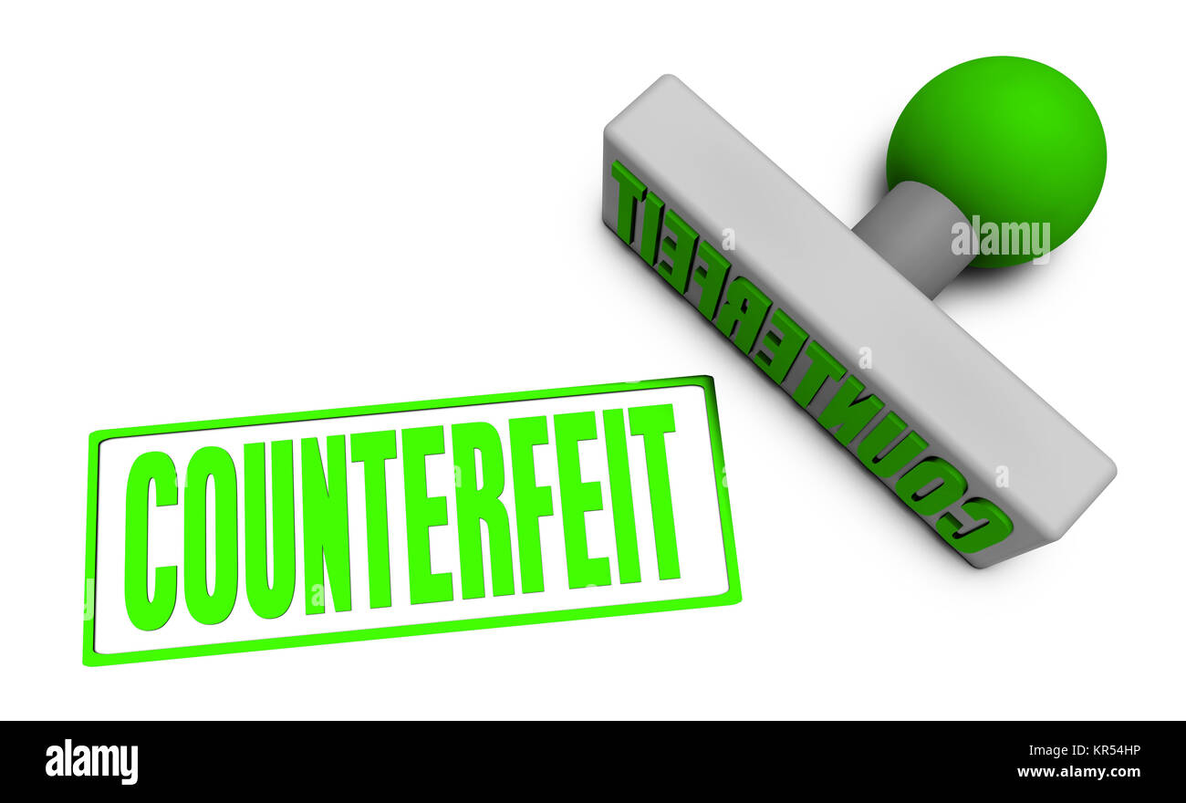 Counterfeit Stamp - Stock Image