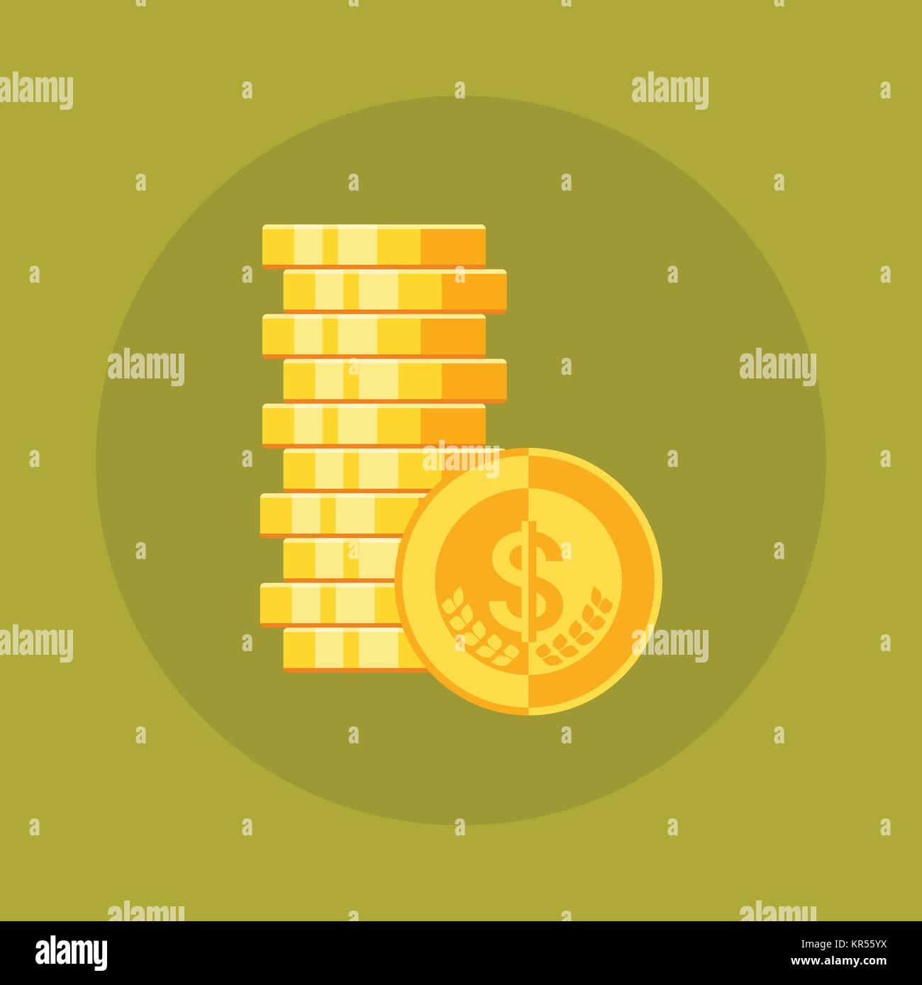 Cent Penny Currency Symbol Icon Stock Photos Cent Penny Currency