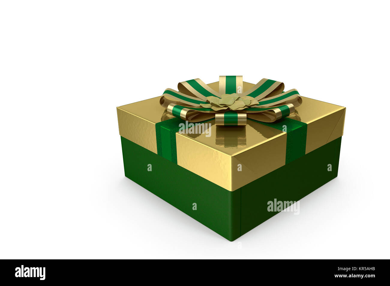 3D illustration: box with a gift for the holiday. - Stock Image