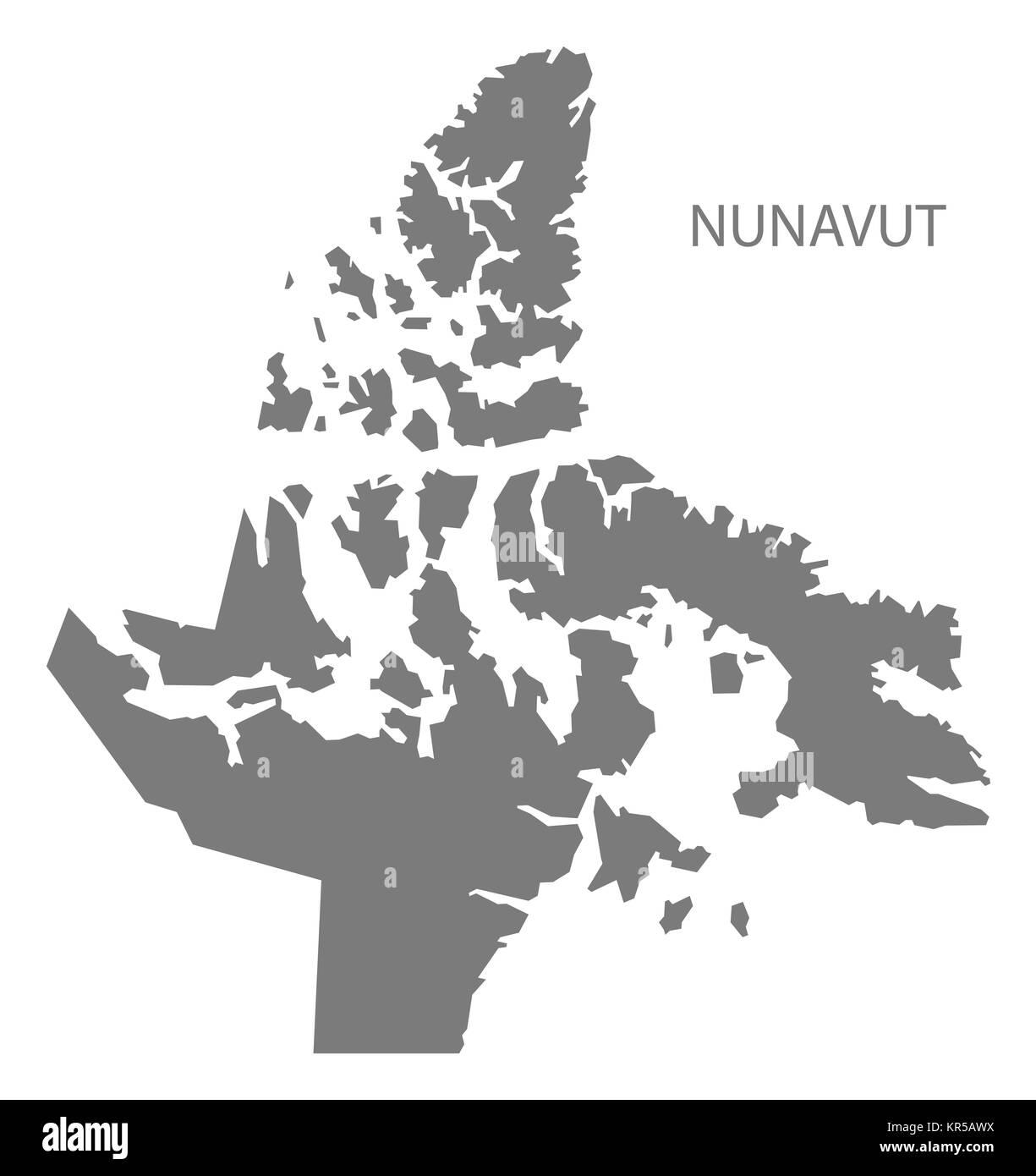 Map Of Canada Nunavut.Nunavut Canada Map Grey Stock Photo 169148726 Alamy