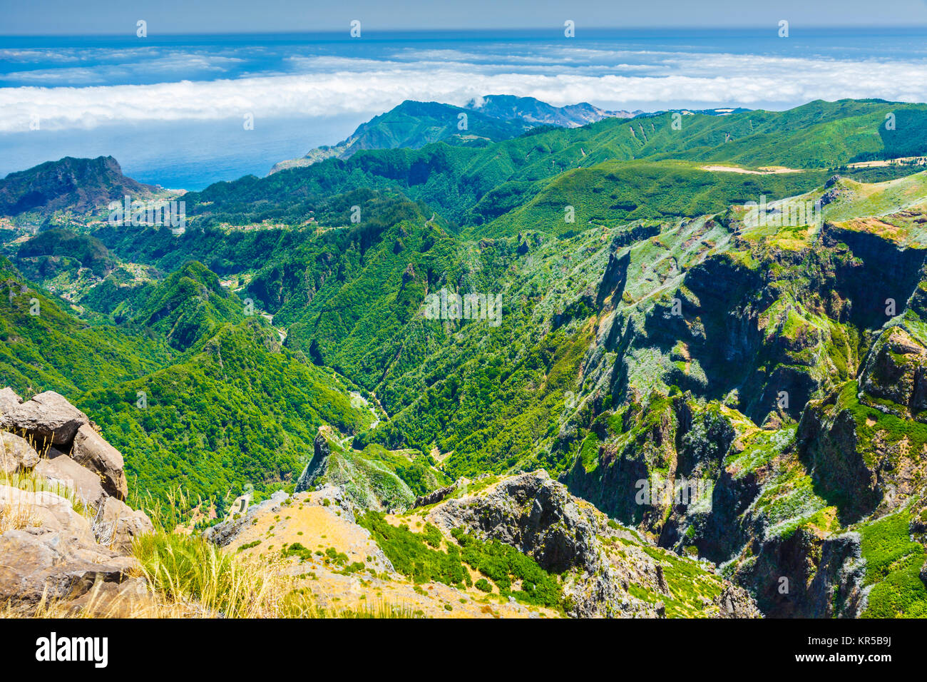 Mountain view. - Stock Image