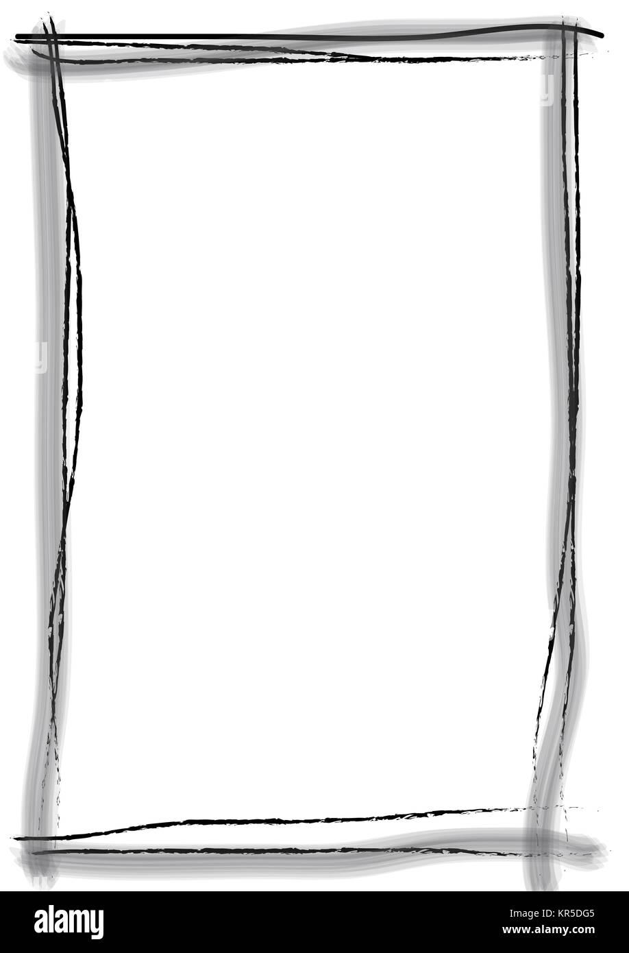 Rahmen Pinsel Strich schwarz Stock Photo: 169150805 - Alamy