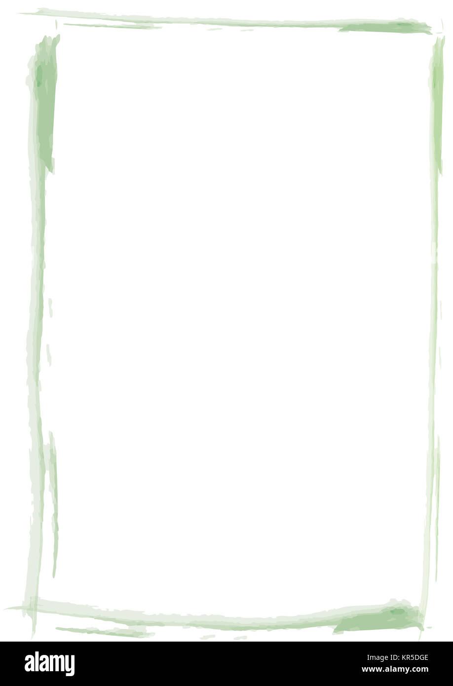 Rahmen Pinsel Strich grün Stock Photo: 169150814 - Alamy