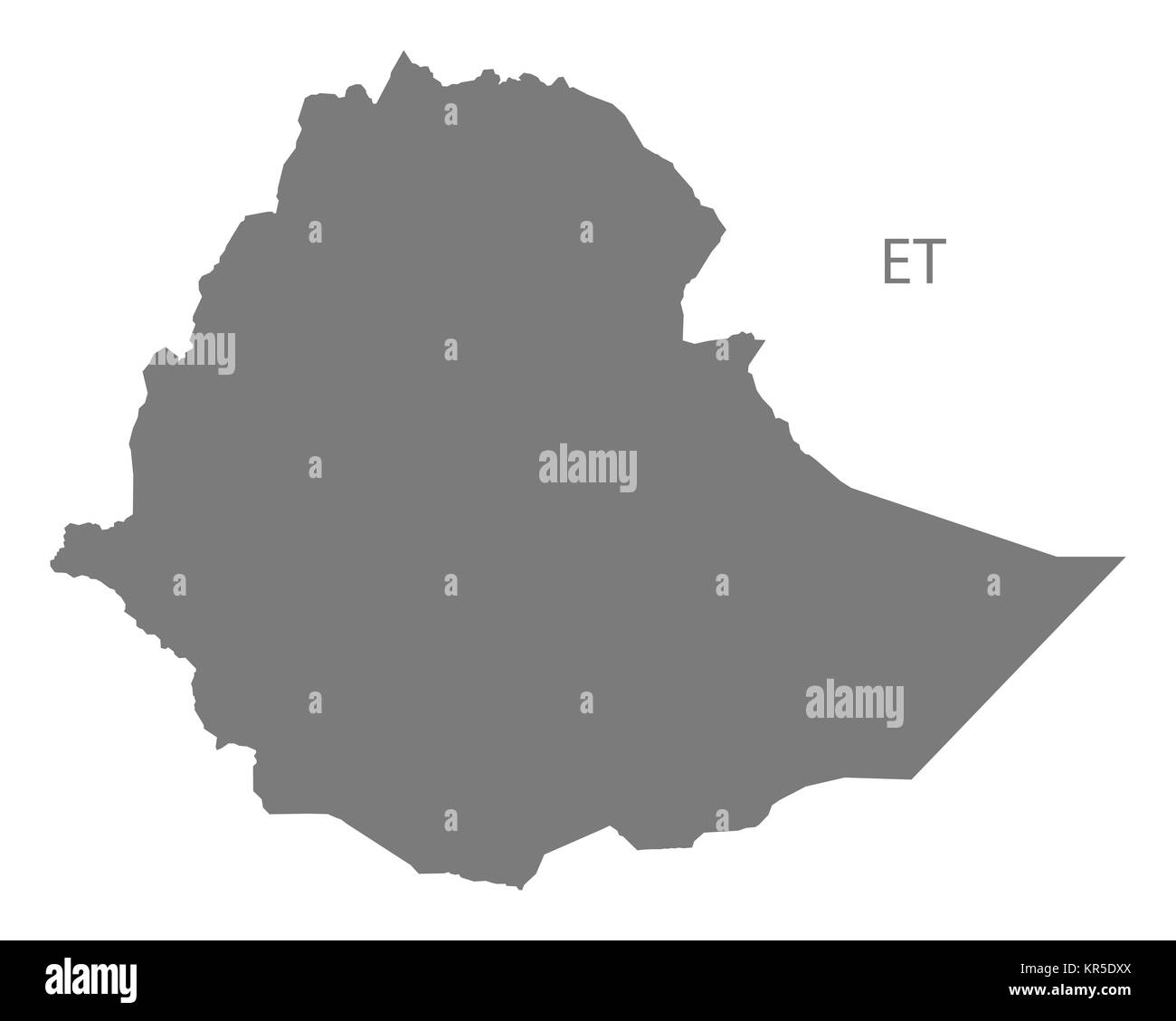 World map ethiopia cut out stock images pictures alamy ethiopia map grey stock image gumiabroncs Choice Image