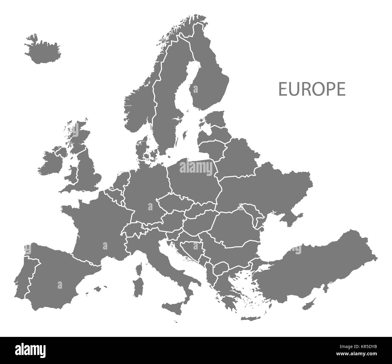 Europe Map Black White.Europe Map Countries Black And White Stock Photos Images Alamy