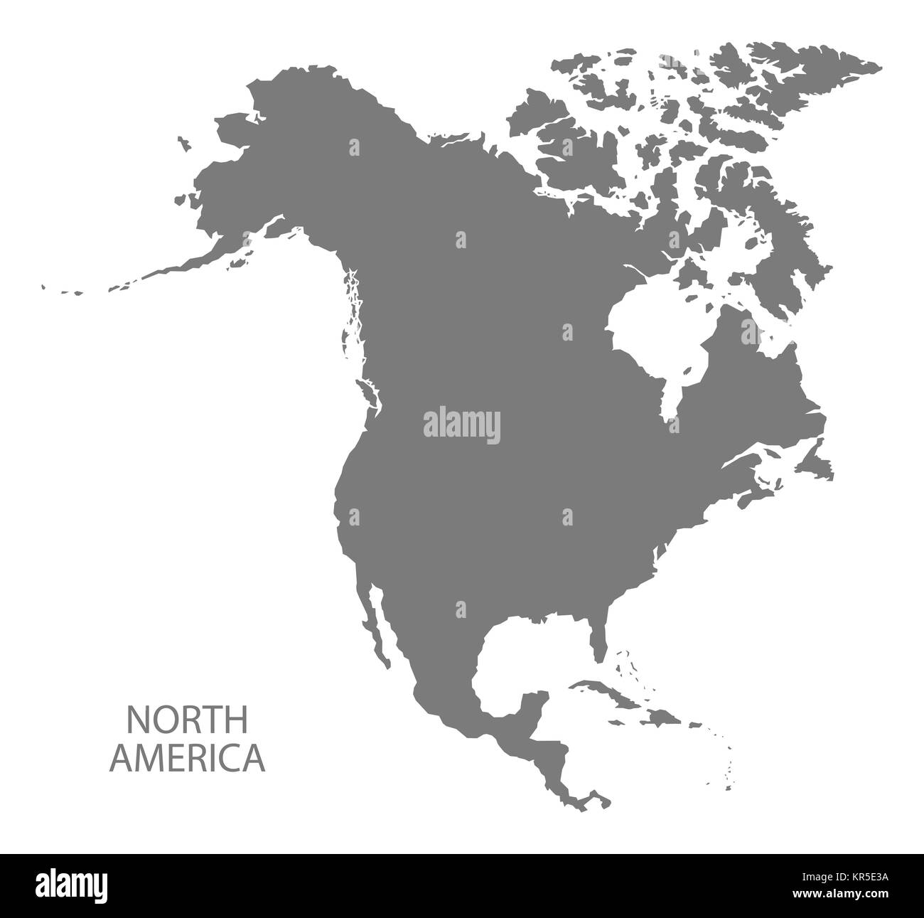 North America Map Black and White Stock Photos & Images   Alamy
