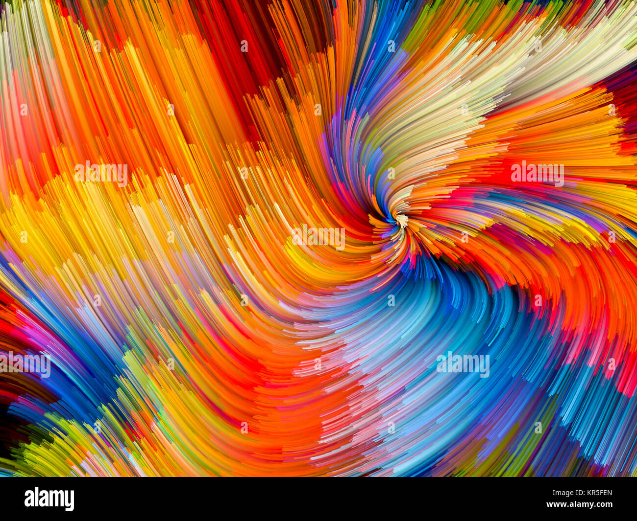 Color Vortex Backdrop - Stock Image
