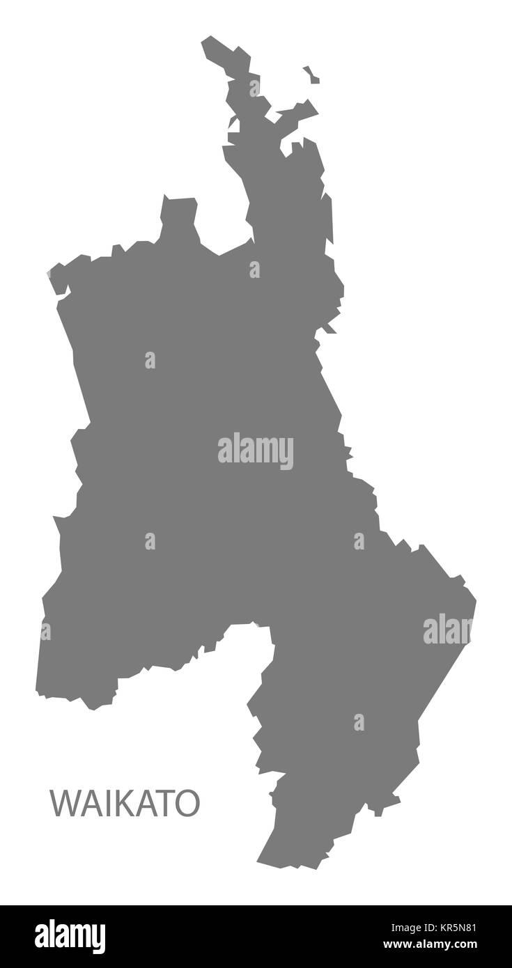 Waikato New Zealand Map.Waikato New Zealand Map Grey Stock Photo 169156849 Alamy