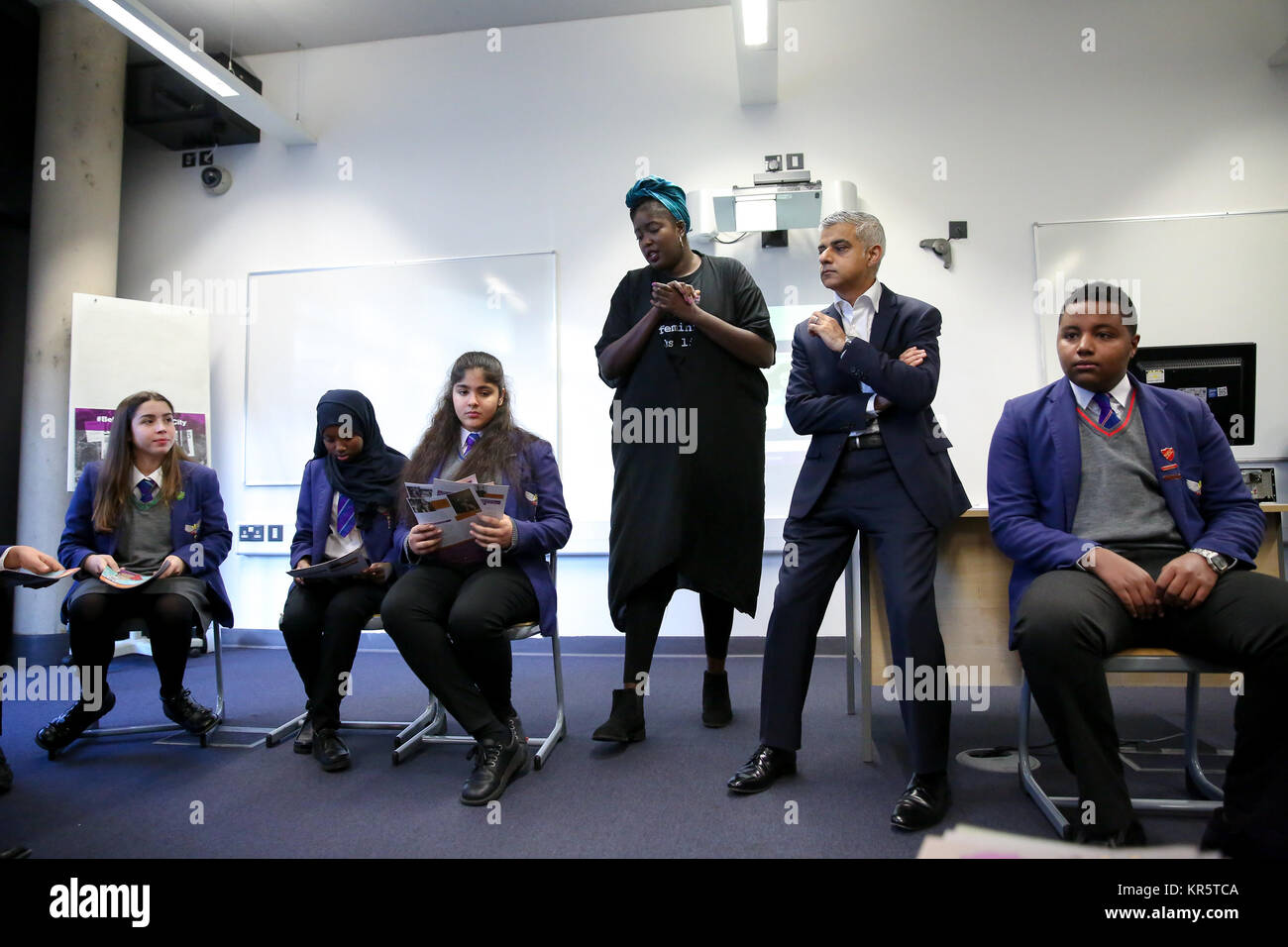 Platanos College, South London. London. UK 18 Dec 2017 - Ahead of the centenary of the first women in the UK securing - Stock Image