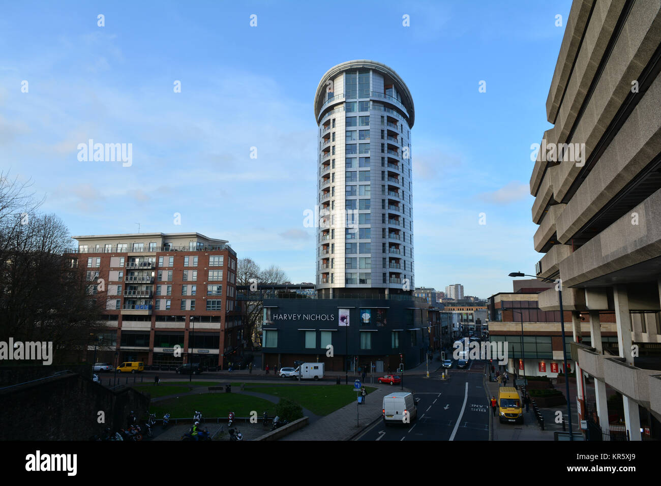 Bristol, UK. 18th Dec, 2017. 14 story high Eclipse Tower have been told there is no imminet risk to their safety. - Stock Image