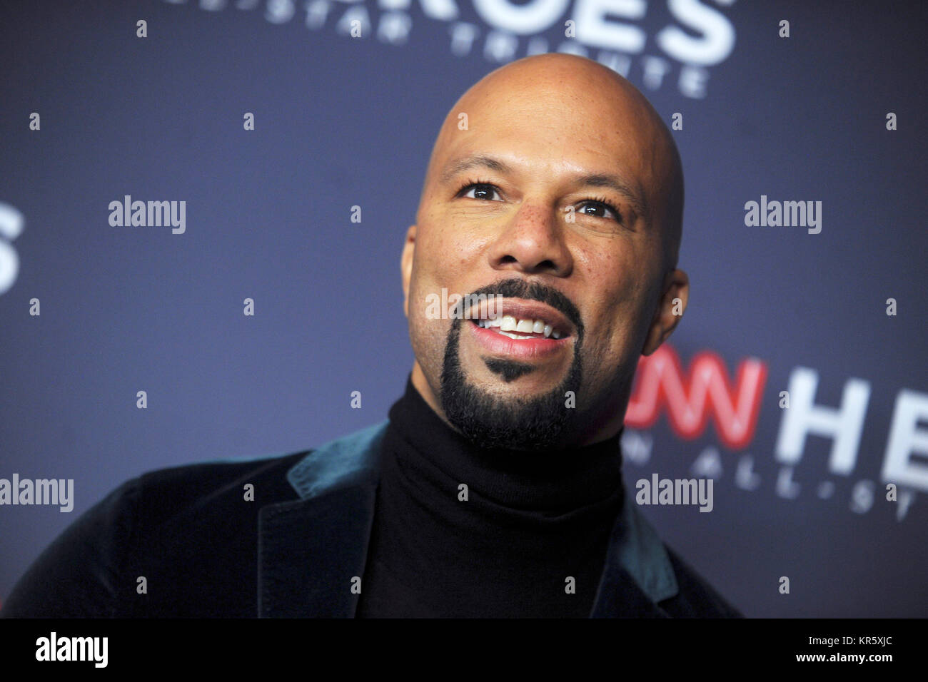 New York, USA. 17th Dec, 2017. Common attends the 11th Annual CNN Heroes: An All-Star Tribute at American Museum Stock Photo