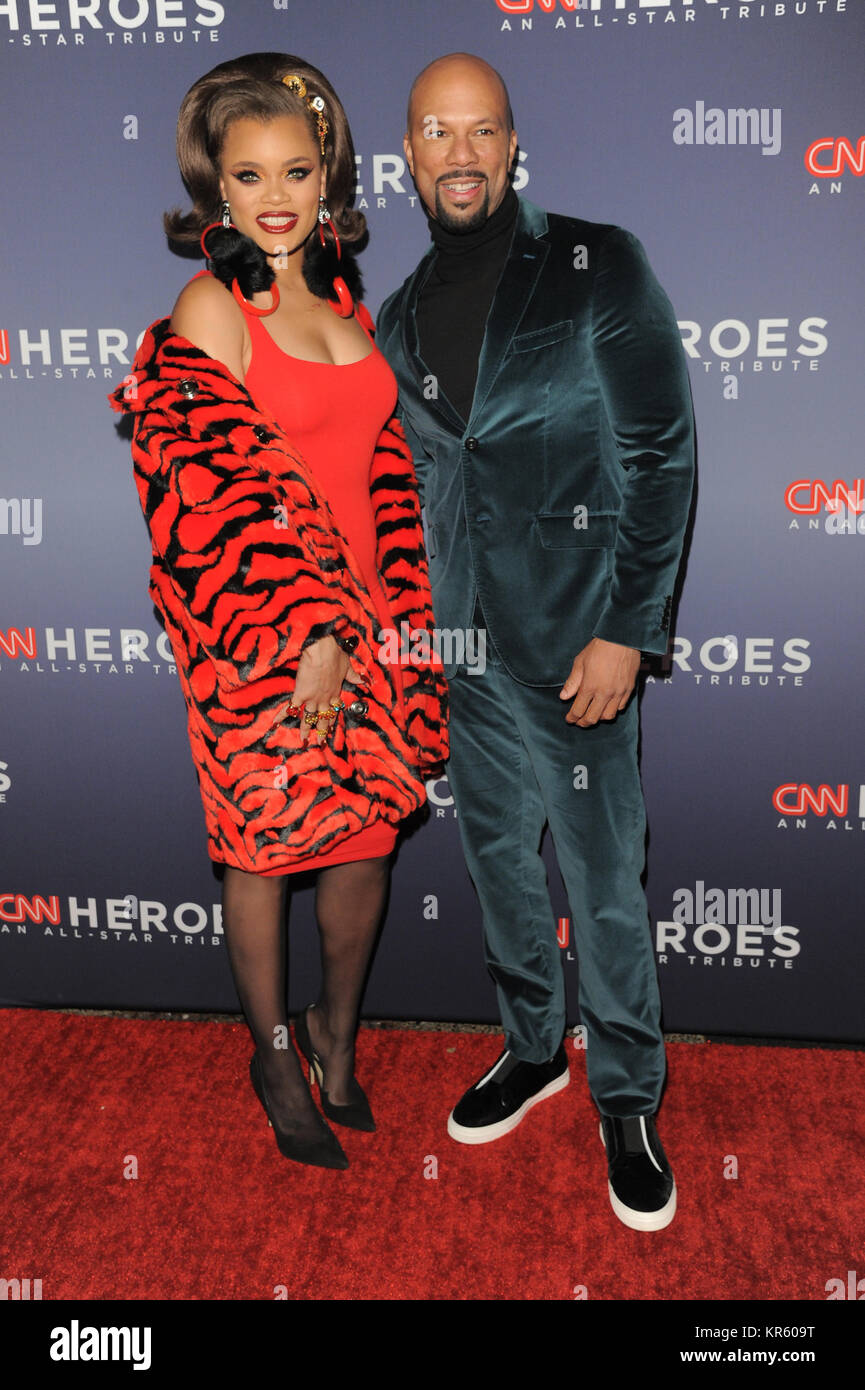 New York, USA. 17th Dec, 2017.  Andra Day(L) and Common attend 11th Annual CNN Heroes: An All-Star Tribute at American Stock Photo