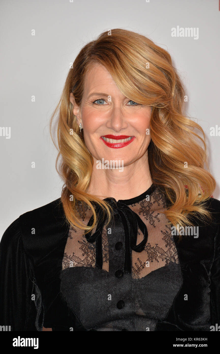 Los Angeles, USA. 18th Dec, 2017. LOS ANGELES, CA. December 18, 2017: Laura Dern at the special screening of 'Downsizing' - Stock Image