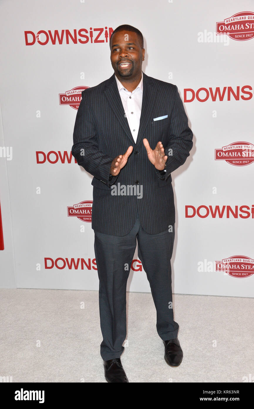 Los Angeles, USA. 18th Dec, 2017. LOS ANGELES, CA. December 18, 2017: Paul Mabon at the special screening of 'Downsizing' - Stock Image