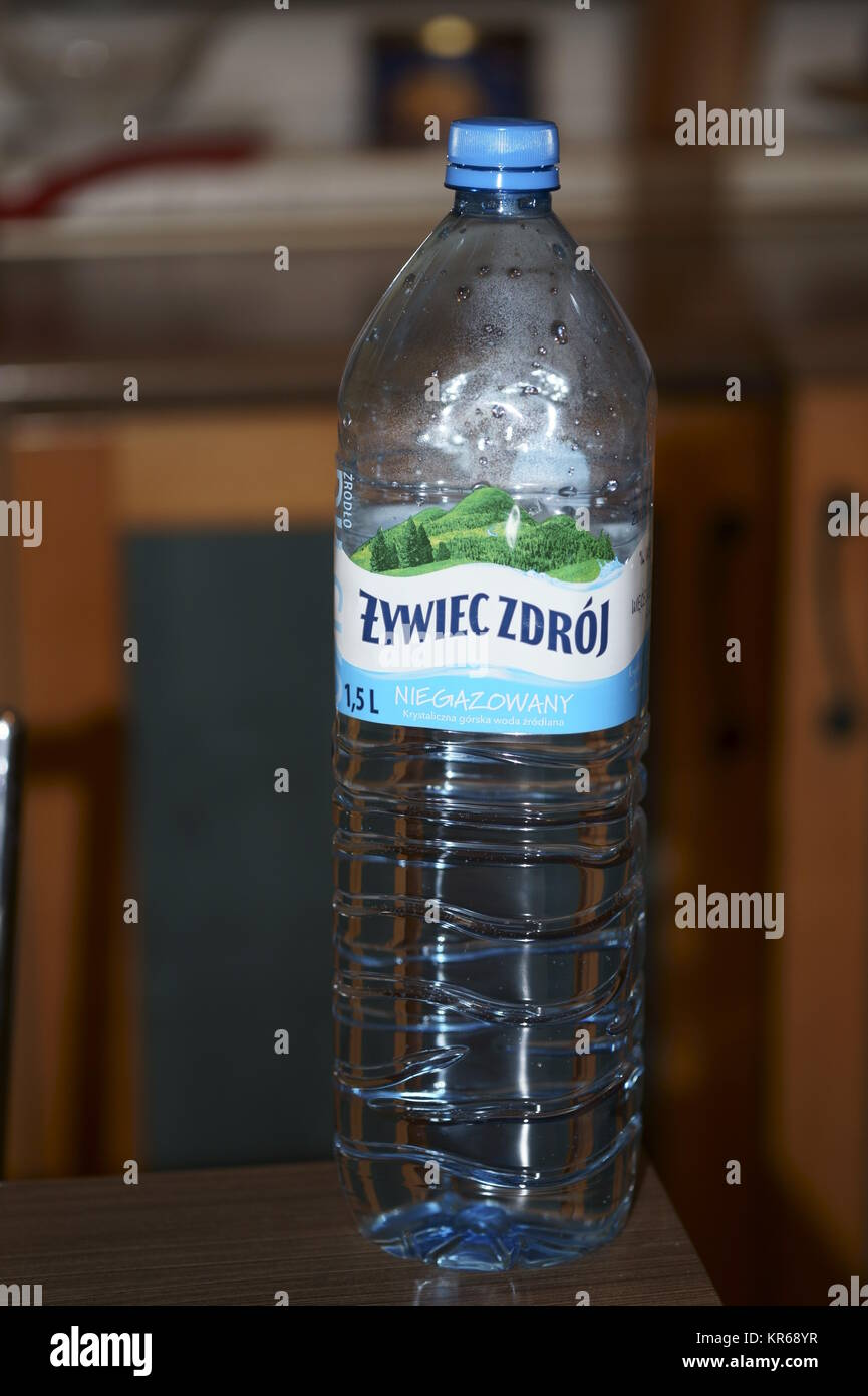 Polish drinking spring water bottle 'Zywiec Zdroj' - Stock Image