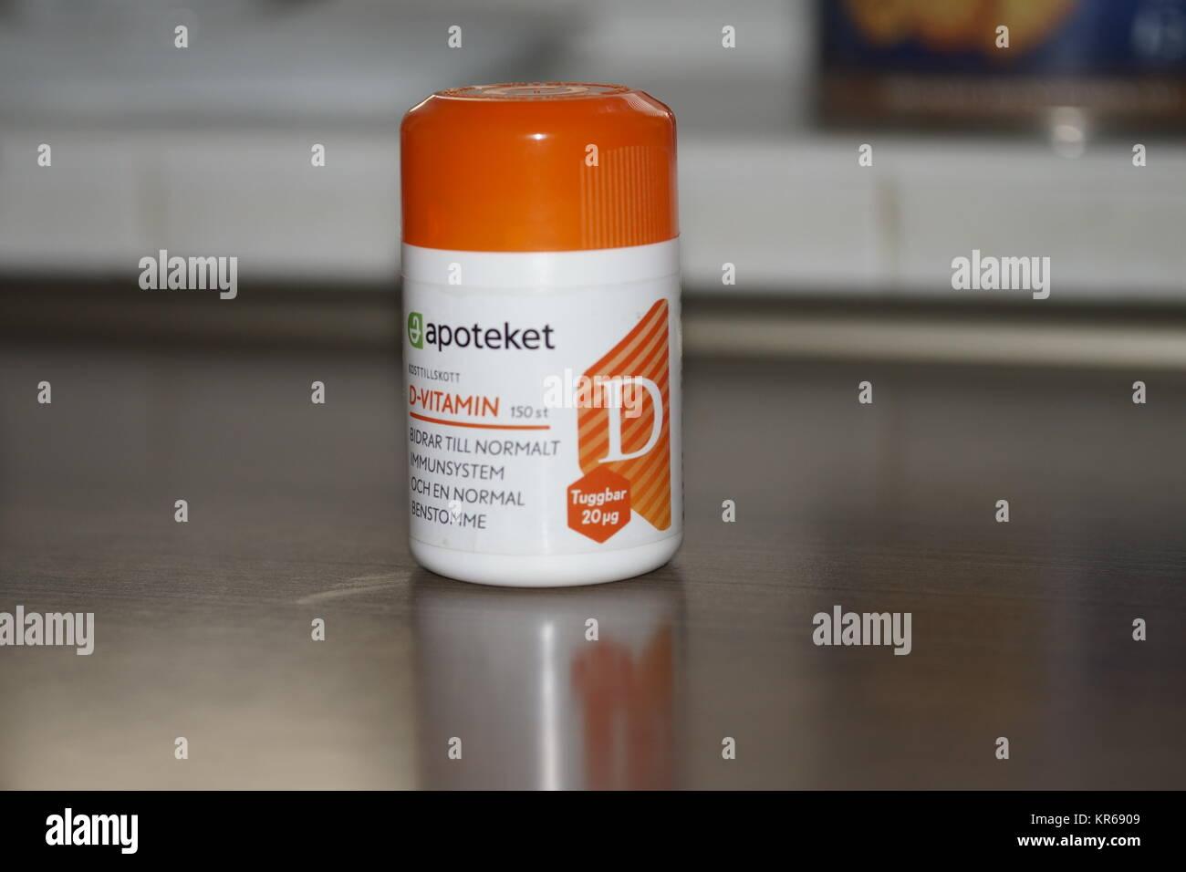 Vitamine D pack of medicines - Stock Image