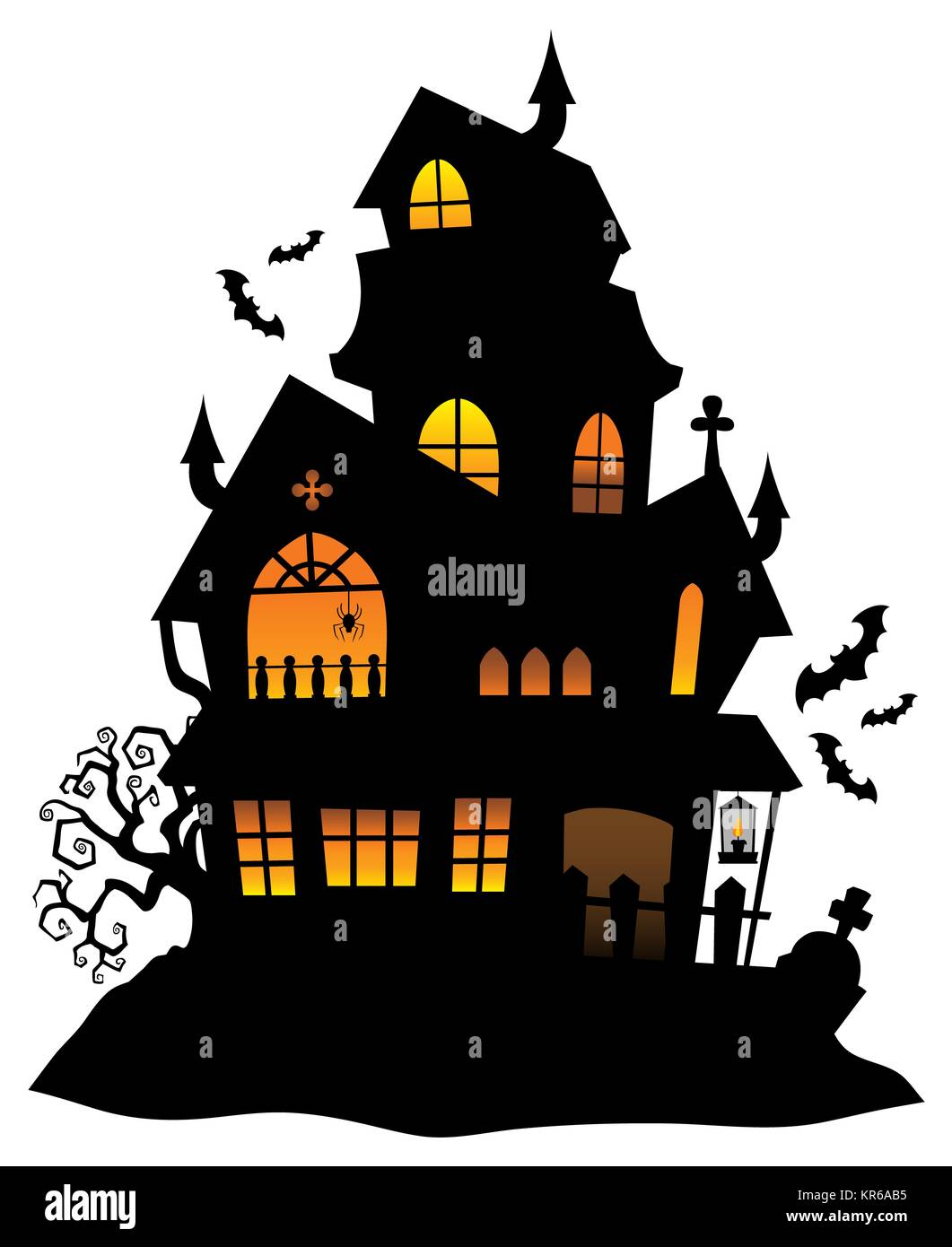 Haunted House Silhouette Theme Image 1