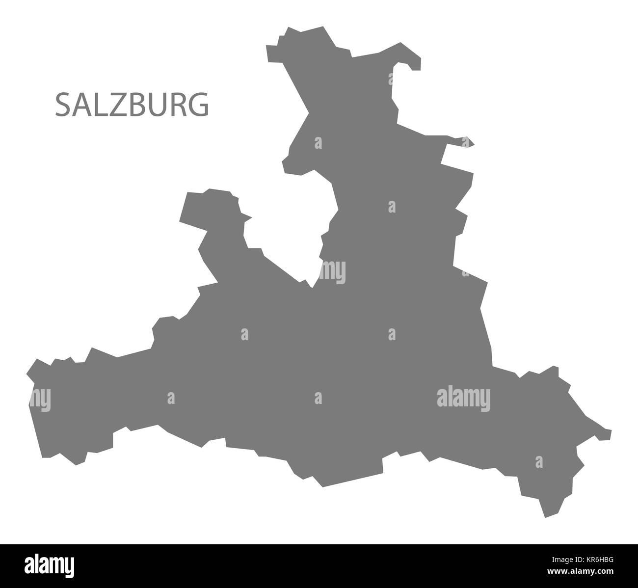 Salzburg Map Vector Stock Photos Salzburg Map Vector Stock