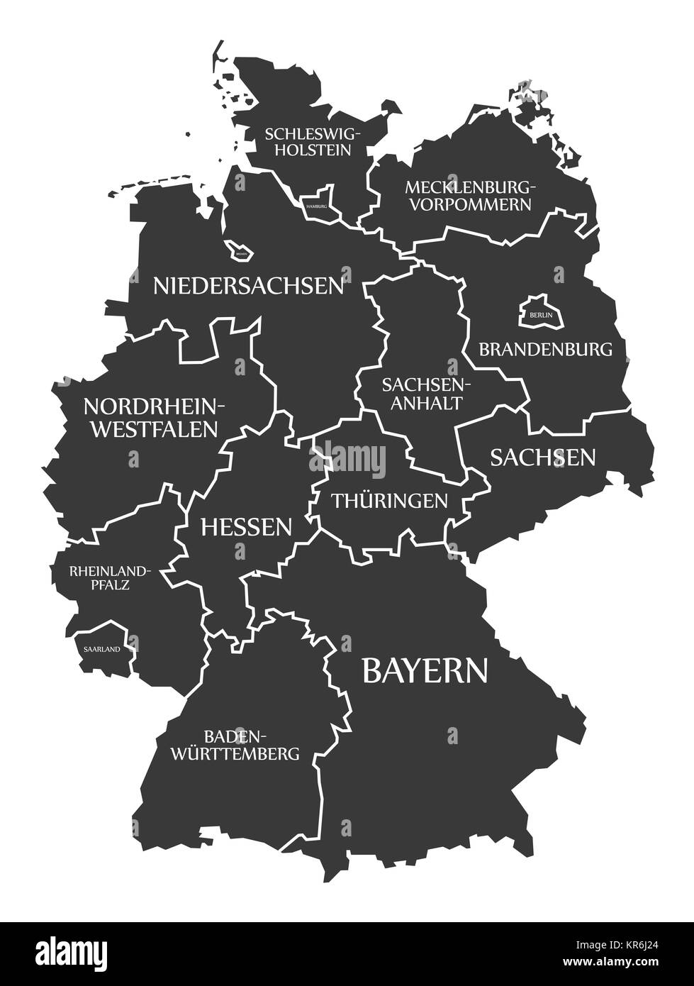Germany Map Counties Stock Photos Germany Map Counties Stock